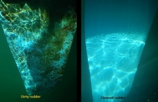 Rudder b Before and After